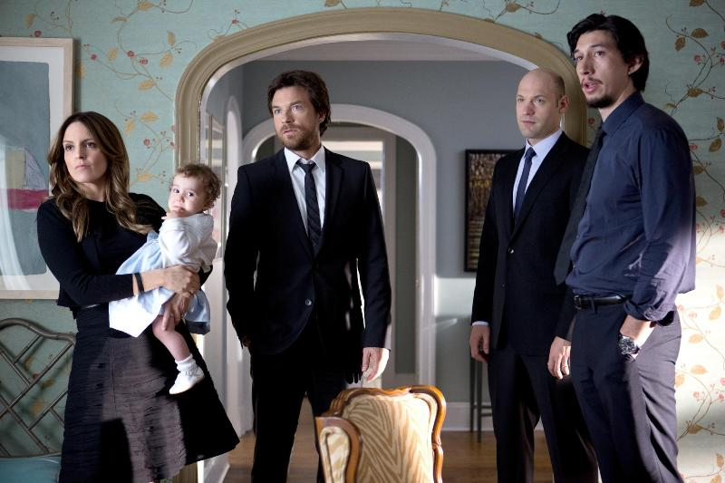Jason Bateman, Tina Fey, Corey Stoll and Adam Driver in This Is Where I Leave You