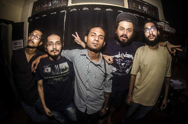 Kolkata experimental metal band What Escapes Me at their listening party for 'Egress Point'. Photo: Margub Ali
