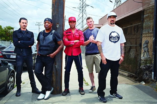 Prophets of Rage: Rage Against the Machine, Public Enemy's Chuck D and Cypress Hill's B-Real detail creating new music and reviving old classics. Photo: Danny Clinch/© Rolling Stone