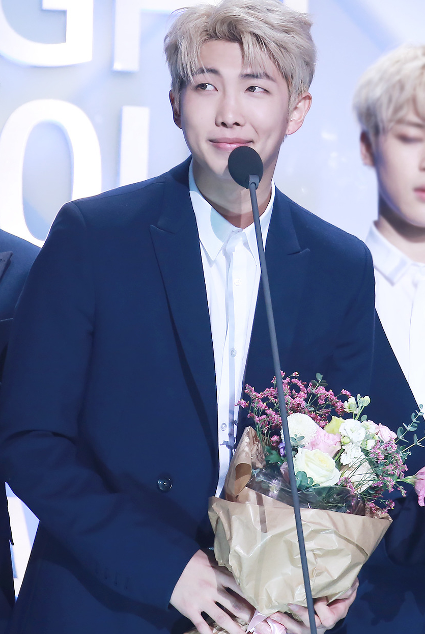 BTS' Rap Monster at Seoul Music Awards, 2017. Photo: Wikimedia Commons