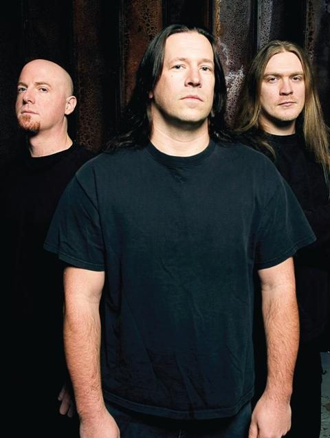 Dying Fetus John Gallagher, Sean Beasley and Trey Williams (from left)