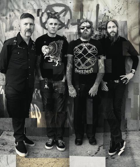 (from left) Bill Kelliher, Brann Dailor, Brent Hinds and Troy Sanders. Photo: Travis Shinn