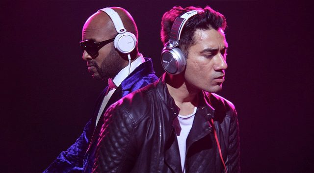 (from left) Benny Dayal and Nucleya.