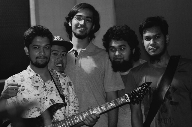 Delhi prog metallers Dreamscapade - Nivrith Mandayam Gomatam, The'ang Teron, Aditya Bali, Rishi Baruah and Raikom Terang (from left). Photo: Franklin Joseph