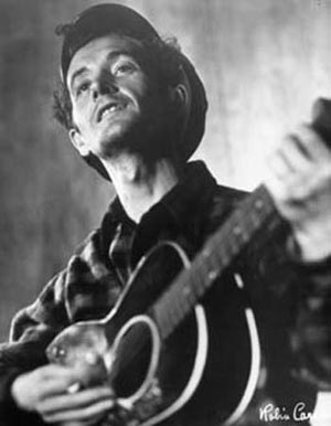 Woody Guthrie. Photo courtesy of worldindustries/Flickr.