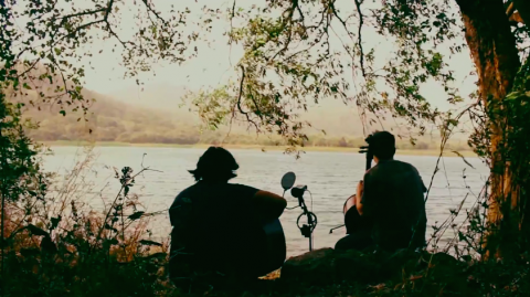 The music video series captures the Duncun Rufus vocalist jamming with Canadian cellist Jake Charkey by a beautiful lake.