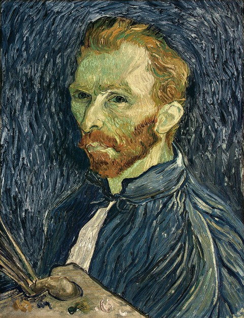 Self-Portrait (1889) by Vincent van Gogh, courtesy of Wikimedia Commons. (This is a faithful photographic reproduction of a two-dimensional, public domain work of art.)