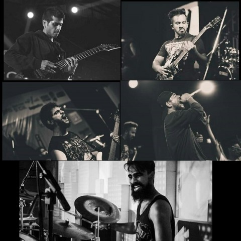 Bengaluru groove metal band Quarantine - (clockwise from top left) Akash Shivakumar, Sukruth Mallesh, Siddhanth Sarkar, Shreyas Ramesh and Kiran Kumar. Photo: Courtesy of the artist