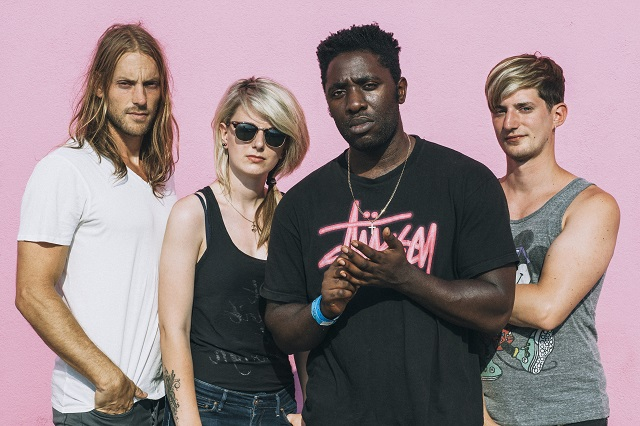 Bloc Party - (from left) Justin Harris, Louise Bartle, Kele Okereke and Russell Lissack. Photo: Rachael Wright