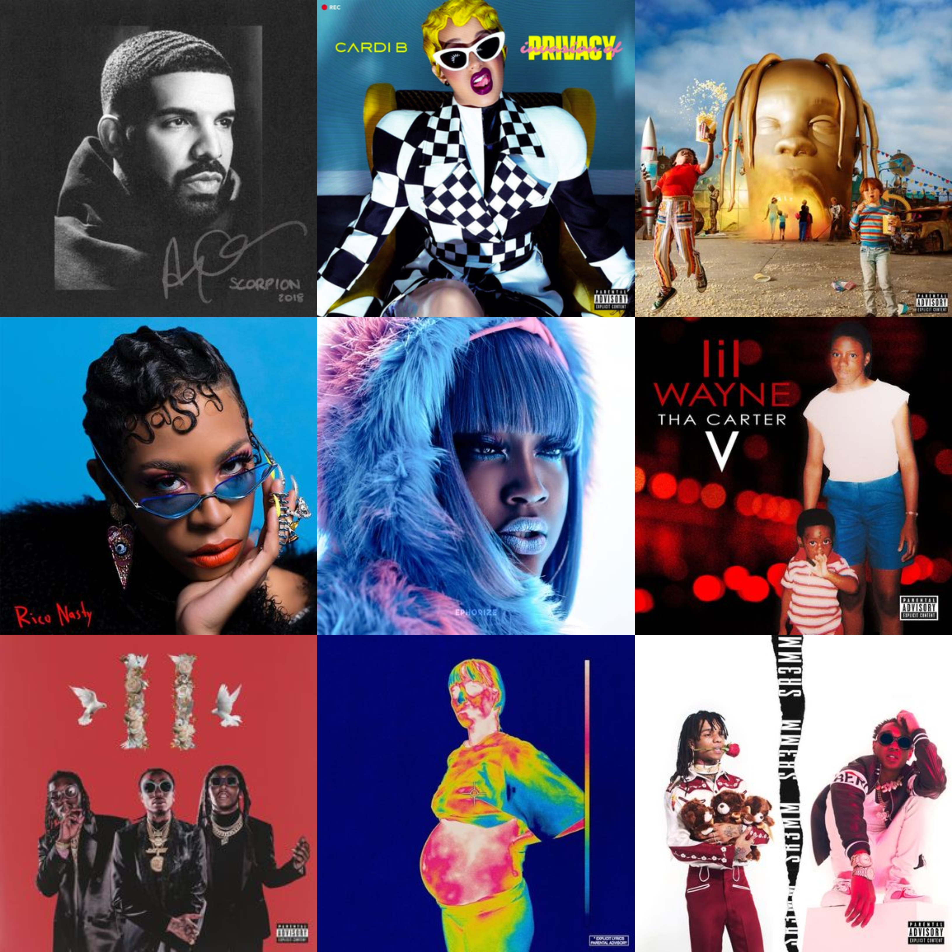 e1cc55ac9982 30 Best Hip-Hop Albums of 2018. This year saw releases from rap's ...